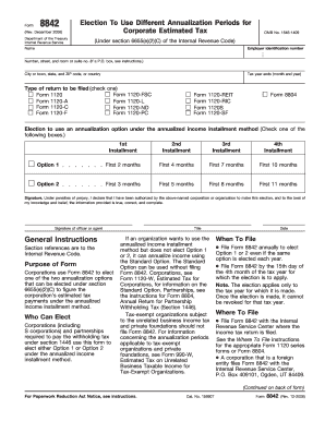 Irs Form 8842 Instructions