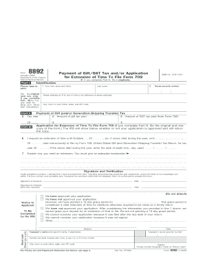 Fillable Online irs Form 8892 (January 2005 ) - IRS - irs Fax ...