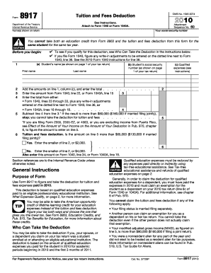 2010 Form 8917 - Internal Revenue Service