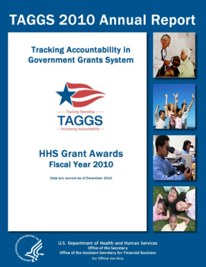 2009 TAGGS Annual Report. Report of TAGGS Grant Awards