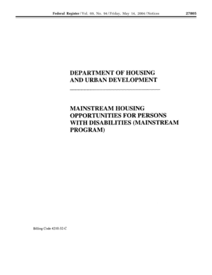 Mainstream Housing Opportunities for - archives hud