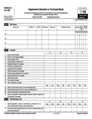 2010 Form 990 (Schedule K) - IRS - irs
