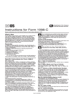 form 1098-c Templates - Fillable & Printable Samples for PDF, Word ...