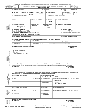 Fillable Online DD Form 1172-2, Application for Department of ...
