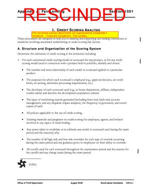 Ots Credit Scoring Models Fill Online Printable