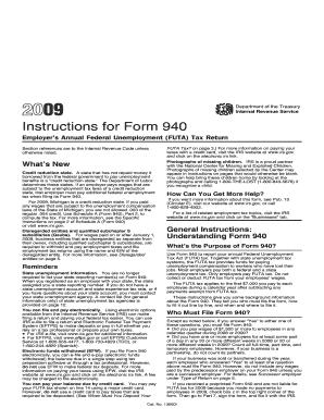 2009 tax return instructions