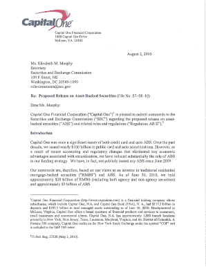 Capital One Sec Comment Letter - Fill Online, Printable