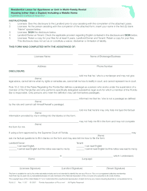 Florida Residential Lease Form