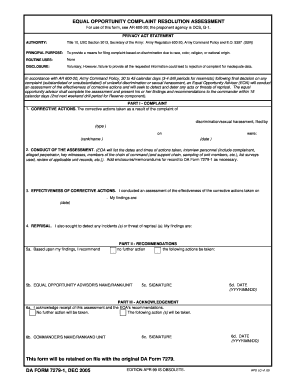Army Eo Complaint Form - Fill Online, Printable, Fillable, Blank ...