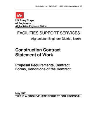 Construction Contract Statement of Work - Afghanistan Engineer ... - aed usace army