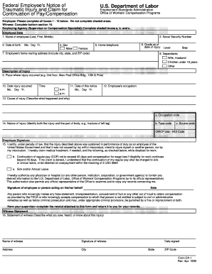 Fillable Online usaid Federal Employee's Notice of ...