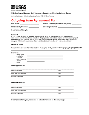 property loan forms for usgs