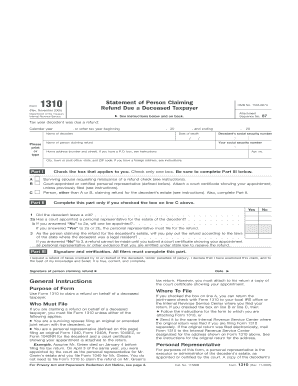 Fillable Irs Form 1310 - Fill Online, Printable, Fillable, Blank ...