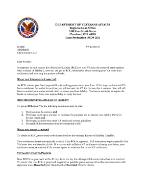 Va Release Of Liability - Fill Online, Printable, Fillable, Blank ...
