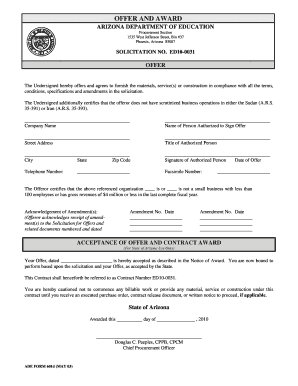 template for solicitation form