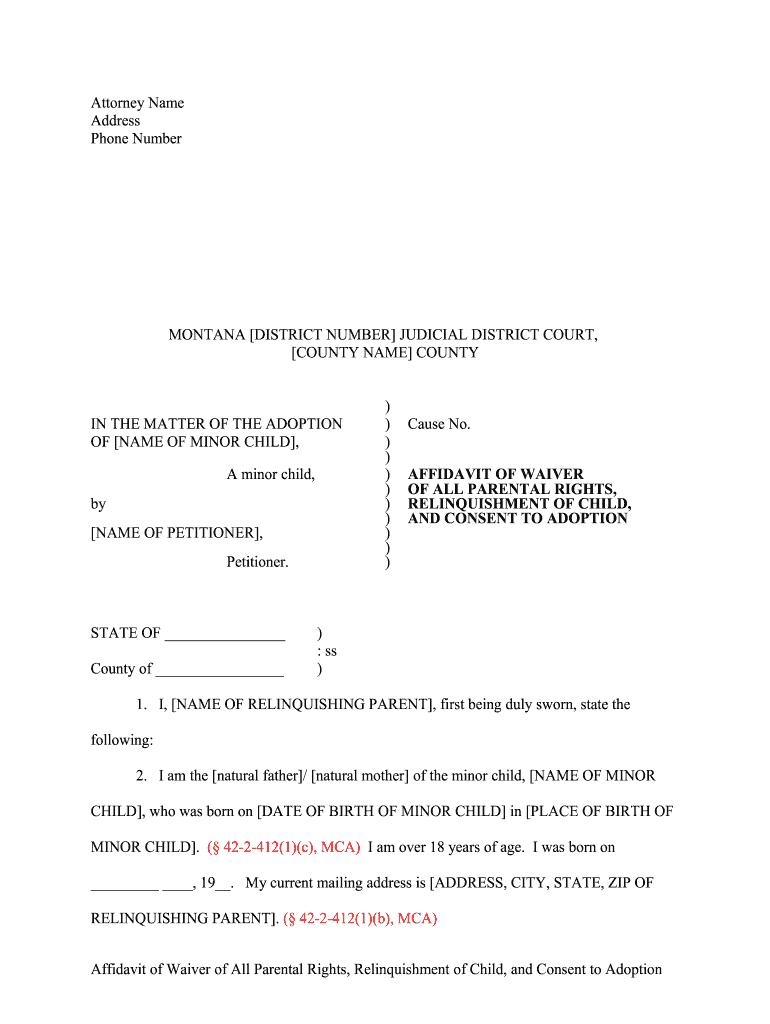 Affidavit Of Waiver Sample - Fill Online, Printable, Fillable, Blank