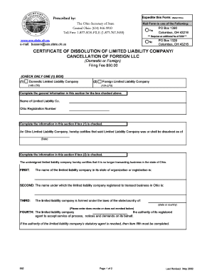 Ohio Llc Form - Fill Online, Printable, Fillable, Blank | PDFfiller