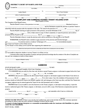 breach of commercial lease complaint form