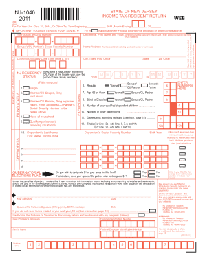 nj 1040 form 2017 printable  Nj 17 Instructions - Fill Online, Printable, Fillable ...