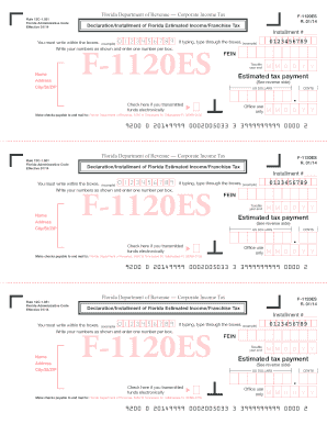 Florida Form F 1120 Instructions 2012