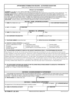 dd form 577 feb 2011