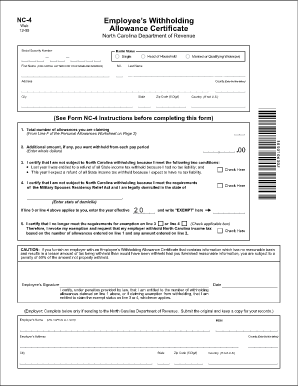 Nc 4 Form Fillable - Fill Online, Printable, Fillable, Blank ...