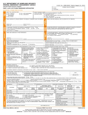 Form Flood Insurance Application - Fill Online, Printable ...
