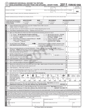 2011 form mo 1040a fill online printable fillable for 1040a instructions 2011 tax table