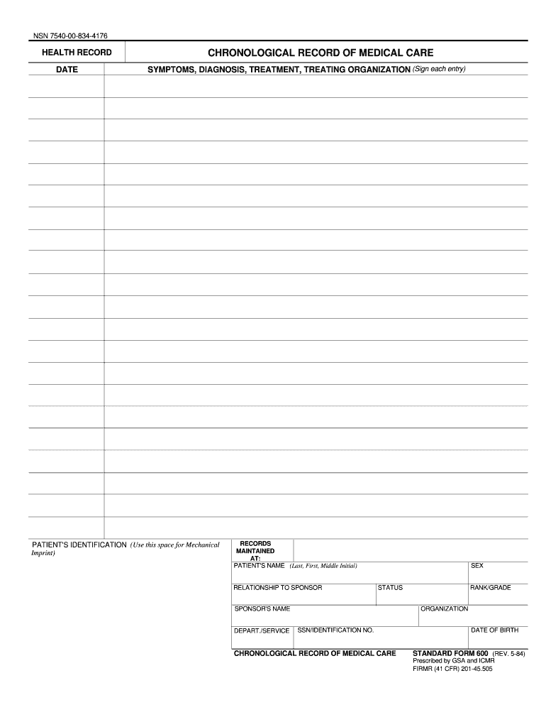 standard form 600 (rev. 11/2010) army  6 Form GSA SF 6 Fill Online, Printable, Fillable, Blank ...