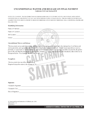 Bill Of Sale Form Georgia Conditional Waiver Of Lien
