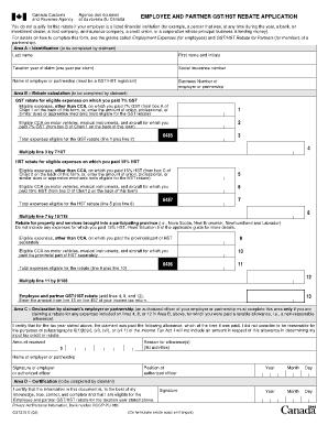revenue canada gst rebate form