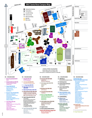 Mendocino College Campus Map.Srjc Campus Map Fill Online Printable Fillable Blank Pdffiller