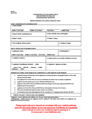 Puerto Rico Death Certificate Sample Fill Online Printable