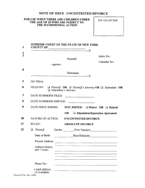 how to fill out form 25a divorce order