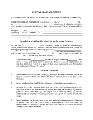 hunting lease forms