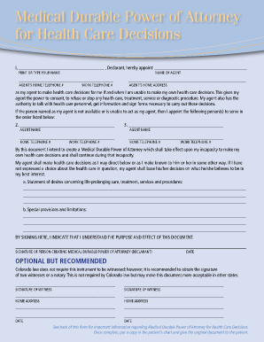 new mexico durable power attorney health care form
