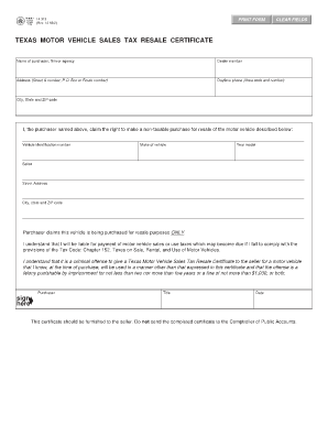 texas motor vehicle form 14 317