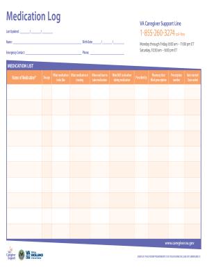 image gallery medication log