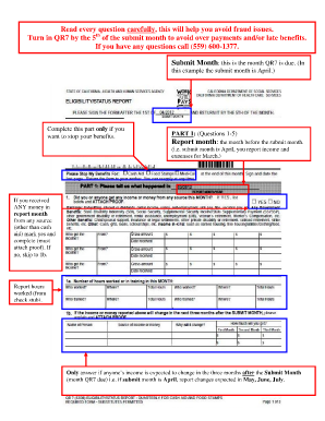 Turning Qr7 Papers To Welfar In Fresno Ca - Fill Online, Printable ...