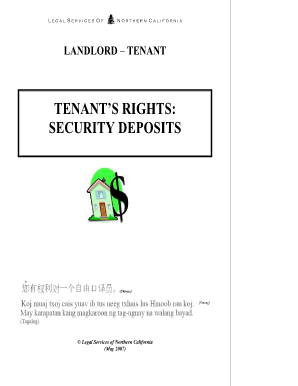 template for security deposit return for tenant form