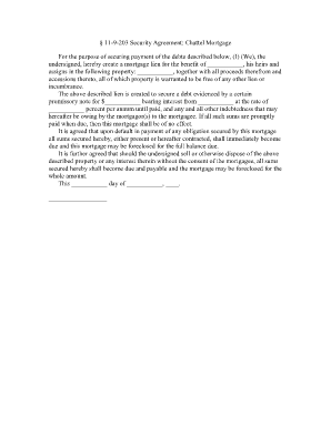 Security agreement forms and templates fillable printable chattel security agreement form arizona platinumwayz