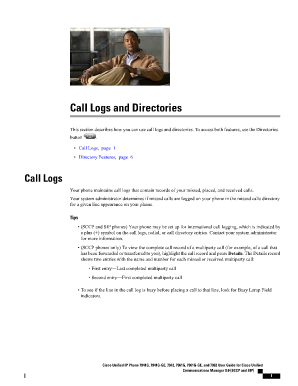 call logs form