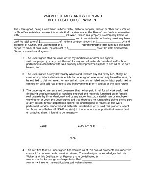 Mechanics Lien Form Texas Fill Online Printable