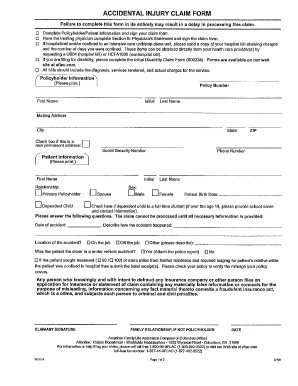 Fillable Online Aflac Accidental Injury Claim Form Pdf Lincoln Park Public Schools Fax Email Print Pdffiller