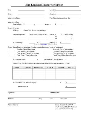asl interpreter invoice template  Fillable Online wyomingworkforce Interpreter Invoice - Wyoming ...