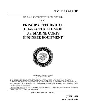 engineer equipment characteristics manual fill online printable rh pdffiller com USMC Engineer Equipment Operator Marine Corps Engineer Equipment Accidents