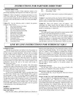 form 1065 nj instructions  Ny 122 Njk 12 Type Of Entity Partner - Fill Online ...