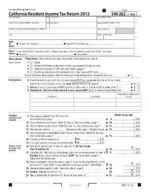 Discription Of Form 5402ez - Fill Online, Printable, Fillable ...