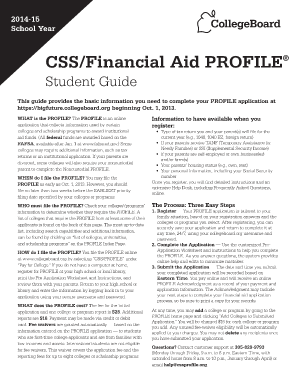 Css profile worksheet 2013