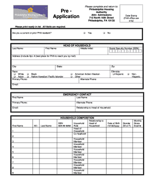 Pha Housing Application - Fill Online, Printable, Fillable ...